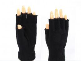 72 of Black Finger Less Gloves
