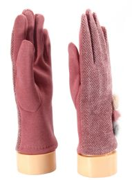 36 of Ladies Glove With Fuzzy Button