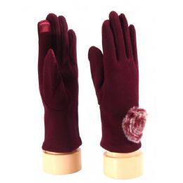 36 of Ladies Glove With Fuzzy Flower