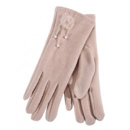 36 of Ladies Glove With Fuzzy Flower And Pearl
