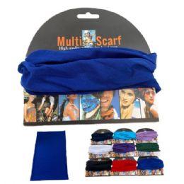 24 of Multi Functional Headgear Gaiter Buff Solid