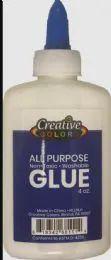 48 of Glue 4OZ Applicator Bottle Washable Non Toxic