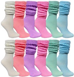36 of Yacht & Smith Slouch Socks For Women, Assorted Pastel Size 9-11 - Womens Crew Sock