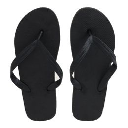 96 of Men's Black Color Flip Flops