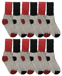 12 of Yacht & Smith Kids Thermal Winter Socks, Cotton, Boys Girls Winter Crew Socks