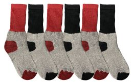 6 of Yacht & Smith Kids Thermal Winter Socks, Cotton, Boys Girls Winter Crew Socks