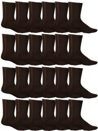 60 of Yacht & Smith Mens Terry Cotton Brown Crew Socks Size 10-13