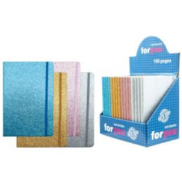 48 of Notebook Glitter Assorted Color