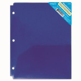 120 of Two Pockets Poly Portfolio Translucent Blue