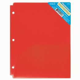 120 of Two Pockets Poly Portfolio Translucent Red
