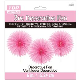 96 of Three Count Decoration Fan In Baby Pink