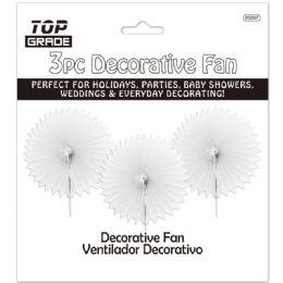 96 of Three Count Decoration Fan In White