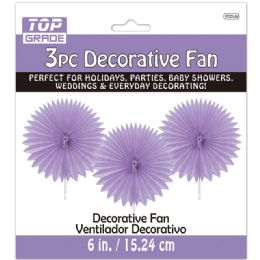 96 of Three Count Decoration Fan In Lavender