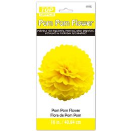 96 of Paper Pom Pom Flower In Yellow