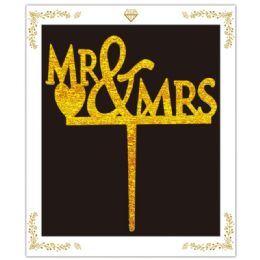 120 of Cake Topper Gold Mr and Mrs