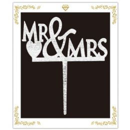 120 of Cake Topper Silver Mr and Mrs