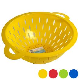 36 of Colander Plastic With Handles 11in D 4asst Colors