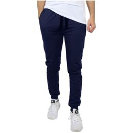 24 of Men's Slim-Fit French Terry Joggers Solid Navy Assorted Sizes S-XXL