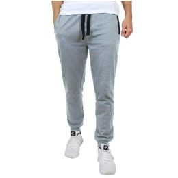 24 of Men's Slim-Fit French Terry Joggers Solid Heather Assorted Sizes S-XXL