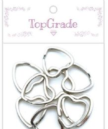 96 of 12 Count Ring Silver Heart Shape