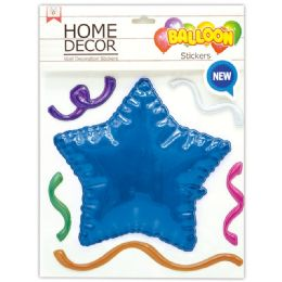 144 of Room Decoration Sticker Star Pattern In Royal Blue
