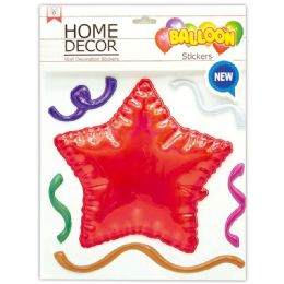 144 of Room Decoration Sticker Star Pattern In Red