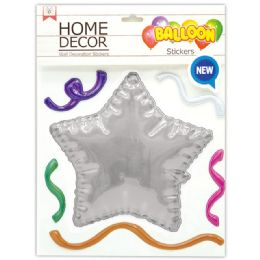 144 of Room Decoration Sticker Star Pattern In Silver