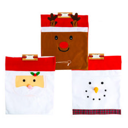24 of Gift Sack Felt 23x18in Three Assorted Styles Drawstring