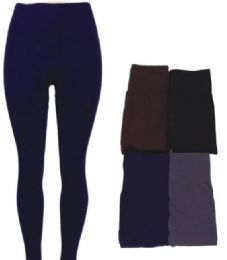 48 of Women's Fleece Lined Leggings In Assorted Colors