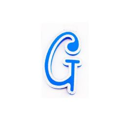 96 of Blue And Silver Trim Letter G