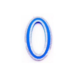 96 of Blue And Silver Trim Letter O