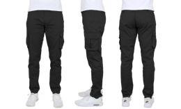 24 of Flex Cotton Stretch Cargo Pants Slim-Fitting Cargo Pants Black