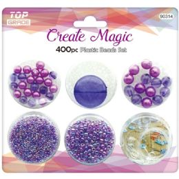 96 of 400 Beads Set In Purple