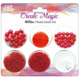 96 of 400 Beads Set In Red