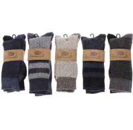 12 of Men's Two Pair Pack 20% Wool Boot Sock