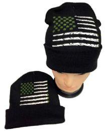 36 of Marijuana Flag Winter Beanie Hat