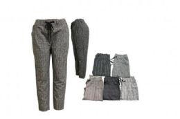 24 of Womens Fashion Printed Casual Drawstring Elastic Waist Pants Soft Lightweight