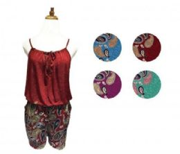 60 of Womens Strappy T Back Push up Tankini Top with Printed Shorts