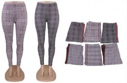72 of Women's Casual Plaid Leggings Stretchy Work Pants