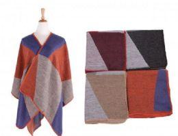 18 of Women's Color Block Shawl Wrap