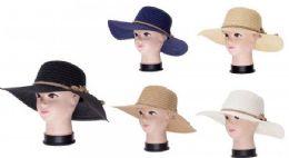 36 of Women Summer Wide Brim Panama Fedora Foldable Packable Straw Beach Hat