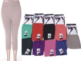 72 of Women's Assorted Color Capri Leggings