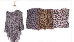 18 of Women's Cozy Warm Printed Poncho Sweater Elegant Shawl