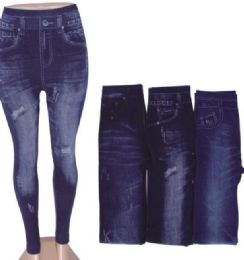 48 of Women's Denim Leggings With Pockets