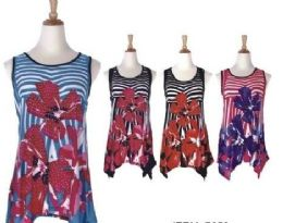 60 of Women's Floral Print Loose Casual Flowy Tunic Tank Top