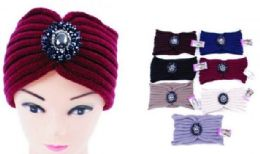 60 of Woman Knitted Headbands Wide Hairband Winter Warm Headband with Rhinestone Ear Protector Headwrap