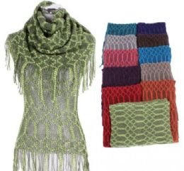 60 of Women Fringe Knit Top With Scarf