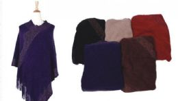 36 of Women's Shawl Wrap Poncho Cape Cardigan Sweater With Fringe for Fall Winter