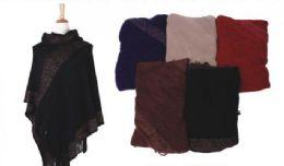 18 of Women's Classic Soft Knit Poncho Shawl Wrap Winter Warm Fringe Tassel Sweater Cape