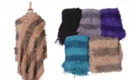 18 of Womens Classic Soft Knit Poncho Shawl Wrap Winter Warm Fringe Sweater Cape Stripe Pullover